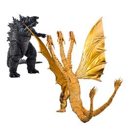 Anime Filme SHM Godzilla Monstro Rei Ghidorah Móvel Action Figure PVC O Modelo Caixa de Presente Perfeito brinquedo de