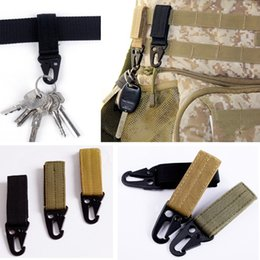 free molle gear Coupons - Factory Price Outdoor Camping Tactical Carabiner Backpack Hooks Olecranon Molle Hook Survival Gear EDC Military Nylon Keychain Clasp