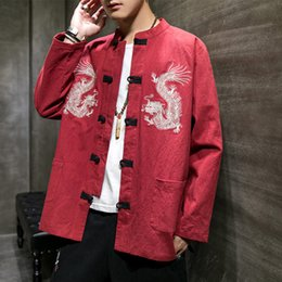 Shanghai Story Chinese Vintage Jacket Mens Clothing National Trend Jacket Coat Outerwear Tang Suit Brown Oversized Coat Unique Jackets For Men From