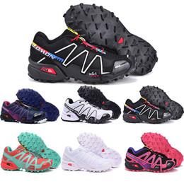 2019 zapatos de camuflaje para mujer salomon 2019 Speed Cross 3 CS III Hombre Camo Rojo Negro para mujer Deportes al aire libre Zapatillas deportivas Speed Crosspeed 3 zapatillas de correr tamaño 40-46 zapatos de camuflaje para mujer baratos