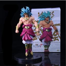 senhor anéis figuras Desconto Anime Dragon Ball Z Figura Broli Super Saiyajin Broli Boneca Broly PVC Figuras de Ação Brinquedo Brinquedos 22 cm