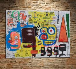 2019 peonías pinturas china Jean-Michel Basquiat Sin título Graffiti, Pintura en lienzo Salón Decoración para el hogar Arte mural moderno Pintura al óleo # 05