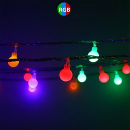 gran bola de luces de navidad Rebajas BRELONG 4.5 cm 30LED Big Ball Light Solar led String String Decoración navideña Luces Decoración al aire libre Árbol de navidad fiesta