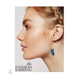 Pendientes de aro únicos para las mujeres online-Arrow Threader Earrings Diseño único Dangle Hoops Crawler Climber Earrings Joyería de moda para mujeres niñas