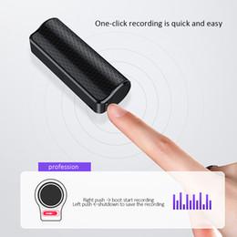 Ditofono nascosto online-Q70 8GB Audio Registratore vocale Mini nascosto registrazione Audio Voice Recorder HD dittafono professionale Magnetic Digital denoise DHL veloce