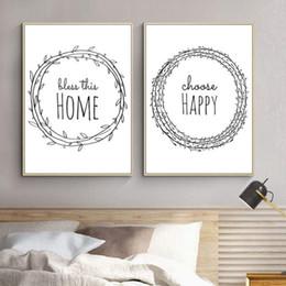 2019 kreis gemälde leinwand Minimalistisches Leben Home Zitate Kreis Wandkunst Leinwand Gemälde Gedruckt Bilder Drucke und Poster für Wohnzimmer Dekorationen günstig kreis gemälde leinwand