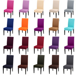parágrafo do computador Desconto Cores sólidas Trecho Flexível Cadeira Spandex Capa Para Festa de Casamento Mobiliário Elástico Multifuncional Capas de Decoração Para Casa