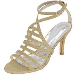 Sexy sottile banda glitter sandali signora bling 8.5cm tacco estate abito scarpe cinturino alla caviglia hees argento nero blu rosso da