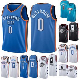 4877b14d0fb 2019 Men's basketball jerseys Russell 0 Westbrook Paul 13 George jersey  100% stitched inexpensive paul george jersey