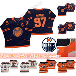 Connor mcdavid youth online-Edmonton Oilers Kids (Youth) Jerseys 97 Connor McDavid Jersey 29 Leon Draisaitl 93 Ryan Nugent-Hopkins Hockey transpirable Jerseys