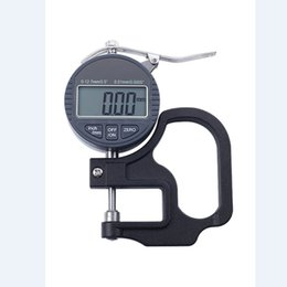 2019 indicateurs numériques Jauge d'épaisseur numérique 0-10mm électronique 0.01mm Indicateur d'épaisseur micron Numérique LCD Cadran Mètre d'épaisseur Micromètre promotion indicateurs numériques