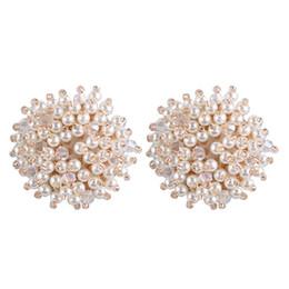Fasce di spilla online-2 pezzi vintage per capelli acrilico perla archi accessori fai da te per ragazza fascia abbigliamento scarpe spilla orecchino a perno