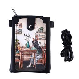 2019 telefone impresso 3d 2019 3D Dos Desenhos Animados Imprimir Carteira Telefone Bag Ladies Mini Bolsa de Ombro Dois Estilos Opcionais Best Selling telefone impresso 3d barato
