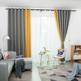 2019 мебель для гостиных комнат Modern Simple Style Pure Splice Curtain Bedroom Living Room Finished Products Customized Processing Cotton and  Fabrics скидка мебель для гостиных комнат