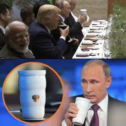 Putin's Same Thermal Cup Putin Stesso boccale Trump Putin G20 Tazze in ceramica per Home Office Ciclismo Borraccia Accessori per biciclette cheap ceramic bottles da bottiglie in ceramica fornitori