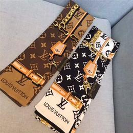 Foulard en Ligne-Marque de mode foulard bande de cheveux en soie Mode femme cravate sac poignée ruban bandeau châle foulard foulard foulards bracelet