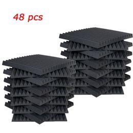 """Painéis acústicos on-line-Os painéis acústicos 48 PCS Estúdio Secador espuma cunha um"""" X 12"""" X 12"""""""