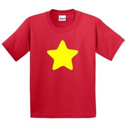 Chemises jaunes en Ligne-JAUNE STAR T-shirt - T-shirt Top Costume Cos Jouer -Fancy Robe - Hommes Garçons Filles