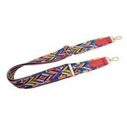 Бохо сумки оптом онлайн-Women Lady Colorful Cotton Boho Chain Rivet Strap Belt for Shoulder Bag Handbag wholesale A9