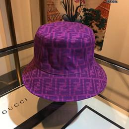 зимние ведро для мужчин Скидка 2019 новая осень / зима мода шляпа рыбака FF печати Designe ведро шляпы Мужские и женские случайные классический горячий стиль шляпа рыбака