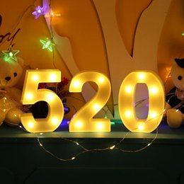 LED Marquee Numarası Işıkları Burcu Light Up Gece Işık için Mektup Işıkları Işareti Düğün Doğum Günü Partisi Noel Lamba Ev Bar Dekorasyon cheap marquee lights nereden seçim ışıkları tedarikçiler