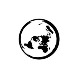 2019 adesivo della terra Pianeta Terra Flat Map Home Decor Car Truck Window Decal Sticker Personalità della moda Creatività Classic attraente sconti adesivo della terra