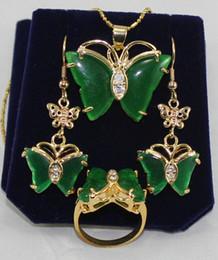 2020 pingentes de borboleta linda brincos de jade verde bonito Brincos borboleta tamanho do anel de pingente 7 8 9 # pingentes de borboleta linda barato