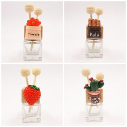 glasses outlet Coupons - 360 Degrees Rotatable Car Outlet Clip Cactus Glass Transparent Perfume Bottle Air Freshener Bottles Party Favor 7 8mk E1