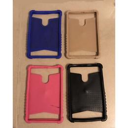 Tablet mtk6572 online-Custodia universale per tablet TPU per MTK6577 MTK6572 MTK8312 Anello da 7 pollici Custodia in silicone colorato per TPU
