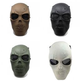 máscara de paintball del ejército Rebajas New Army Mesh Full Face Mask Skull Skeleton Airsoft Paintball Collection Juego de películas Proteger máscara de seguridad de alta calidad 20js