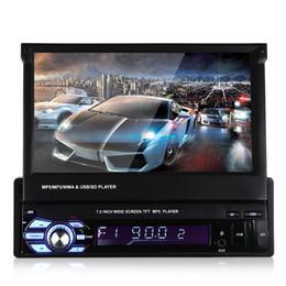 Coche tft dvd online-Universal 9601 7.0 pulgadas TFT LCD Pantalla MP5 Reproductor multimedia para coche con Bluetooth Radio FM DVD para coche