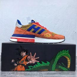 Edições limitadas tênis on-line-Nova Chegada Dragon Ball Z x 500 Goku Running Shoe Designer Clássico Moda Edição Limitada de Qualidade Superior Sapatos de Desporto