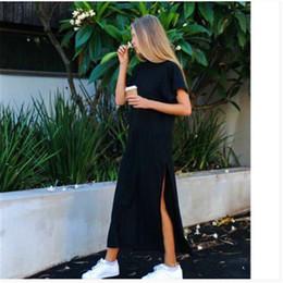 mulheres vestido de comprimento do tornozelo Desconto Mulheres poliéster casual em linha reta sólido vestido cheio de tornozelo-comprimento dress regular shein natural