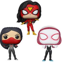 figura de mujer araña Rebajas Funko Pop Marvel Mujer Araña # 392 # 146 Araña Gwen muñeco articulado de vinilo con la caja de juguetes populares de la buena calidad