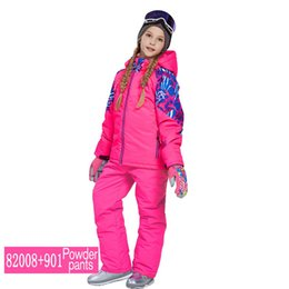 2018 NEW phibee Boys Girls Ski Suit Waterproof Pants+Jacket Set Winter  Sports Thickened Clothes Children s Ski Suits d97c68a46
