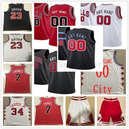 basquetebol impresso personalizado Desconto Custom impresso Chicago Derrick 1 Rose 23 Michael Scottie 33 Dennis Rodman 91 Rodman Otto 22 Porter Jr. Zach 8 LaVine Bulls camisa de basquete