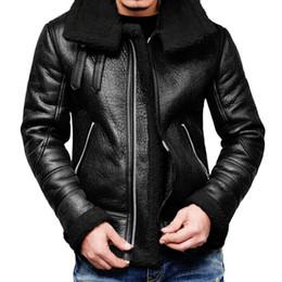 2020 chaquetas de cuero 4xl Piel KANCOOLD chaquetas de los hombres del invierno del otoño informal de la motocicleta de la PU de la chaqueta abrigos de pieles del trazador de líneas de la solapa de las chaquetas Outwear Top 826 rebajas chaquetas de cuero 4xl