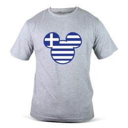 6089-Gy Walts Werksverkauf Mickey Streetwear Griechenland Flagge Grau Männer T-Shirt T-Shirt Männer Jungen Design Kurzarm Baumwolle Benutzerdefinierte XXXL von Fabrikanten