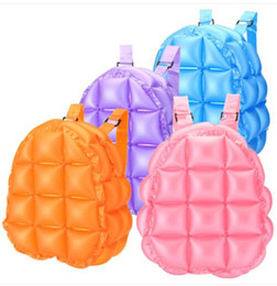 blow bags Promo Codes - Fashion Inflatable Bubble Blow Up Backpack Retro Festive Bopping Spice Girls Space Bags