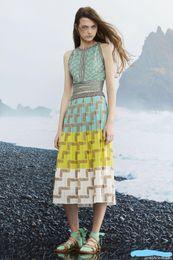 2019 Summer Womens Casual Skirt Ice Bohemian Style Sleeveless Long Knit Dress  Female Designer Dress Ladies Skirt f43092872