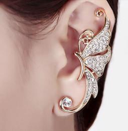 orecchini orecchini dell'elfo Sconti orecchini firmati Pieni di orecchini di diamanti Orecchini a farfalla Elfo Polsino Nessun orecchino forato con clip per orecchini