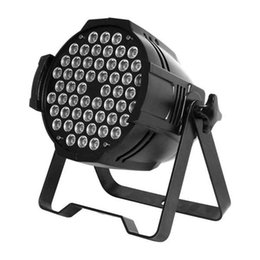 54 par led stage on-line-RGBW 54 x 3W LED Par Light Voice-activated DMX 512 Control LED Stage Lighting For KTV Party Light DJ Disco Stage Light