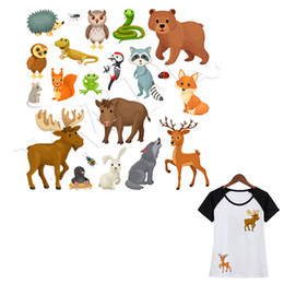 Leopard Iron On Stickers Washable Heat Transfer Patches For Clothes Applique JDU