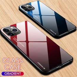 Gradient Colors Case For Iphone 11 11pro 11pro Max 8 7 6plus Tpu Glass Cellphone Iphone Case For Sumsang Galaxy S10 A9 Note 10