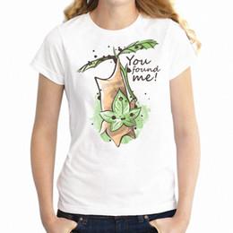 Semi di ragazza online-Maglietta da donna Gamer Girl Legend of Zelda Korok Seed You Found Me Geek Shirt Girl's Tee