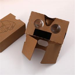 DIY 3D-очки Google Картон VR BOX II 2.0 Версия 3D-очки для 3,5 - 6,0-дюймового смартфона Iphone Free Shipp от Поставщики бесплатный картонный google