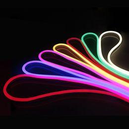 sinais de piscina Desconto 220V luzes de néon RGB Branco Warm White impermeável LED flexível Tape luz tira com adaptador Neon UE Sinal Lâmpada ao ar livre decorativa