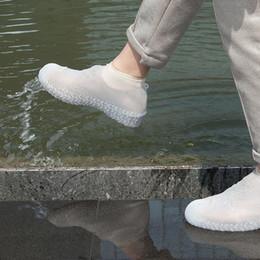 Canada Les chaussures imperméables de pluie de gel de silicium couvrent l'élasticité en caoutchouc réutilisable couvre-chaussures antidérapant pour le protecteur de bottes Offre