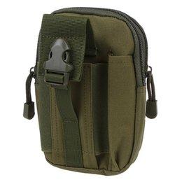 Bolso verde del ejército online-Molle cintura empaqueta los hombres de deporte al aire libre de la cintura Casual caja del teléfono del paquete monedero móvil para el teléfono verde del ejército