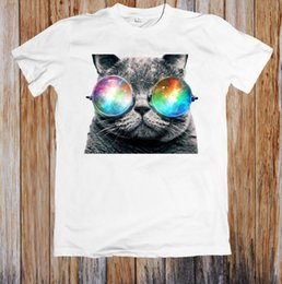 gafas de ropa caliente Rebajas CHECK MEOWT SPACE GLASSES CAT UNISEX CAMISETA denim clothes camiseta t 2019 hot style